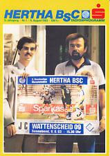 II BL 83/84 Hertha BSC Berlin - SG Wattenscheid 09, 06.08.1983
