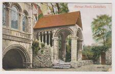 Kent postcard - Norman Porch, Canterbury - P/U 1914