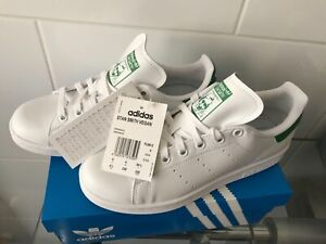 Genuine Adidas Stan Smith Vegan Trainer  White Green Size UK 4 / EURO 36 Unisex