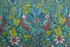 Clarke & Clarke Curtain Fabric by Emma Shipley 'amazon' 3 Metres 300cm Navy