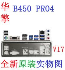 New ASROCK io shield B450 PRO4 plate io shield #GN847 XH