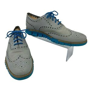 Cole Haan Dress Shoes Men's Size 11 M Zerogrand Wingtip Oxford Gray Casual