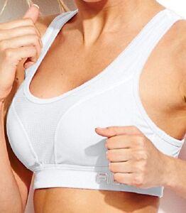 NEW FILA SPORT® Bra: Core Essential High-Impact Sports Bra White Size XS