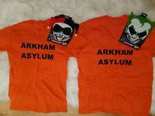 Joker and Harley Quinn arkham asylum halloween couples costume set T-shirt...