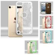 For iPod Touch 5th / 6th Gen  Challenger Hybrid Protector Case Cover-Triangles