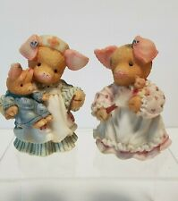 Lot of 2 Enesco Tlp I'm Not A Dust Collector 1997 You'll Be Just Swine 1995 Flaw