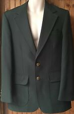 Vintage Dark Green 38R Men's Blazer by Haggar retro 80s 2 Button EUC Masters