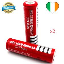 2x 18650 3.7v Rechargeable Battery Batteries Flashlight Headlamp Laser Lamp