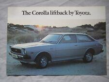 Toyota Corolla Liftback Fold Out Brochure