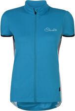 Dare 2b Women's Decorum Short Sleeved Cycle Jersey 10 Fluro Blue
