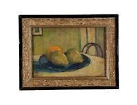 Alfred W Jones Antique New York Interior Still Life Impressionism Oil Painting