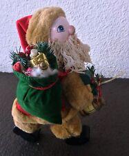 "Woodland Santa Country Christmas Folk Art Father Christmas 12"" High"