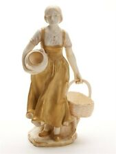 ANTIQUE ROYAL VIENNA GIRL WITH BASKET ERNST WAHLISS FIGURE