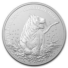 "2020 Australia 1 oz Silver Sumatran Tiger BU 25K MINT ""LMT QTY"""