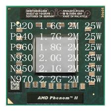 LOT AMD Phenom II Quad-Core P920 P940 P960 N930 N950 N970 Socket S1 Laptop CPU