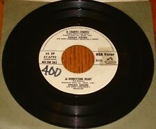 ELVIS PRESLEY / DINAH SHORE WHITE LABEL PROMO 45 EP RARE!  1957