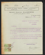 """PARIS (VIII°) SULFATE de CUIVRE Anglais """"MACKECHNIE"""" en 1924"""