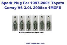 6 Champion Spark Plug for  1997-2001 Toyota Camry  V6 3.0L