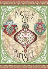 Merry & Bright - Large Garden Flag - Brand New 28x40 Christmas 0061