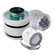 Mini Klima-set 160m³/h Abluft-set AKF Aktivkohle-filter Lüfter-set Grow Homegrow
