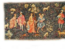 Decorative tapestry Medieval style French Louvre Print Rambovillet