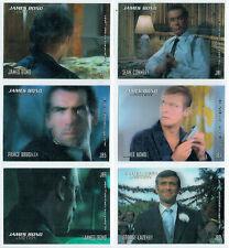 JAMES BOND IN MOTION 2008, COMPLETE SET OF 6 LENTICULAR CARDS JB1-JB6