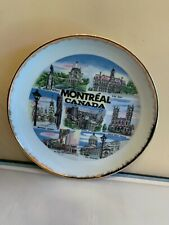 Vintage Early 1980's Montreal Canada State Souvenir Collector Plate