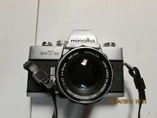 Minolta SR-T 101 Camera 55mm F1.7 MC Rokker + additional lens, flash and cas