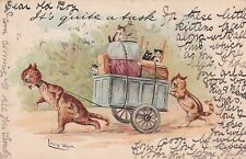"1904 Tucks a/s LOUIS WAIN CAT ""It's quite a task"" Write Away Series 956 Postcard"
