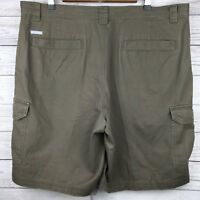 Columbia Omni-Shade 6-Pocket Cargo Shorts Brown Khaki Cotton Hiking Trail Men 38