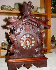 Old gothic black forest cuckoo clock, winding mechanism, Gordian Hettich