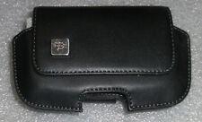 BLACKBERRY BLACK GENUINE LEATHER HORIZONTAL CASE BOLD PEARL 9900 9000 NEW