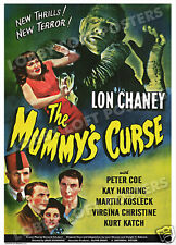 THE MUMMY'S CURSE  LOBBY CARD POSTER OS 1944 LON CHANEY JR KAY HARDING PETER COE