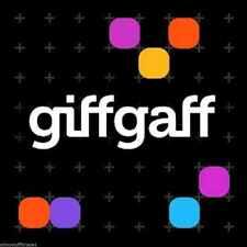 Tarjeta SIM prepago Giffgaff UK £5 saldo gratis Envío normal Sim UK Giff Gaff .o