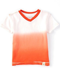 Baby t shirt 12 months boy girl orange white v neck organic cotton registry gift