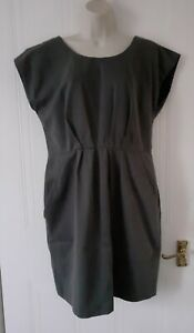 Whistles Womens Smart Career Party 100% Cotton Dress Grey Size 14 UK~Immaculate