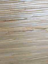 Silver Metallic Wallpaper Natural Grasscloth Beige Brewster HY30272 Double Rolls
