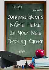 New Teacher Job Congratulations PID640 A5 Personalised Greeting Card