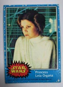 1977 Topps STAR WARS Series 1 Blue #5 Princess Leia Organa RC Rookie Card