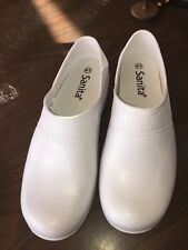 Sanita White Slip On Shoes Clogs Nurse Medical Size 41 US 9.5 Slip Resistant