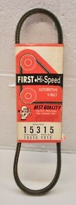 15315 FIRST Hi-Speed V-Belt Accessory Drive Belt USA made NOS xref. GATES 7312