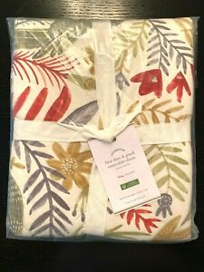 Pottery Barn Llew Deer and Plaid Reversible Sham KING New - Set 2 - Holiday