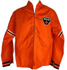 Vintage 80s Falcon Windbreaker Jacket Nylon Deadstock Orange Adult Made in USA