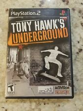 TONY HAWK'S UNDERGROUND PlayStation 2 (PS2) Complete: Tested Free Shipping READ