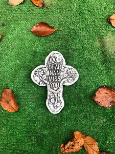 Nan Miss You , Memorial Stone Cross  Garden Ornament Gravemarker