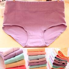 3-er Damen Baumwoll Unterwäsche High-Waist Bauchweg Panty Slip Hotpants Hipster