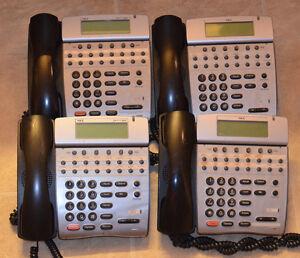 Lot of 4 NEC Dterm 80 Phones DTH-16D-1(BK)TEL DTH-16D-2(BK)TEL 780075 780575