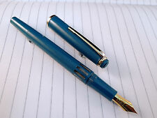 Fountain Pen Easy (piston-filling system) - D- Tone Nib - light blue