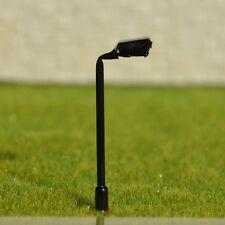 30 pcs N scale Metal Model Lampposts 12V bulbs made Street Lights #045Z Black