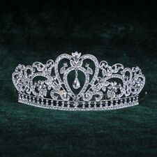 Silver Crystal Crown Tiara Headband Wedding Prom Beauty Pageant Crowns Hot Sale